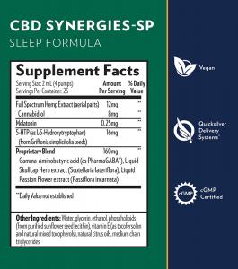 SP Sleep Supplement Facts