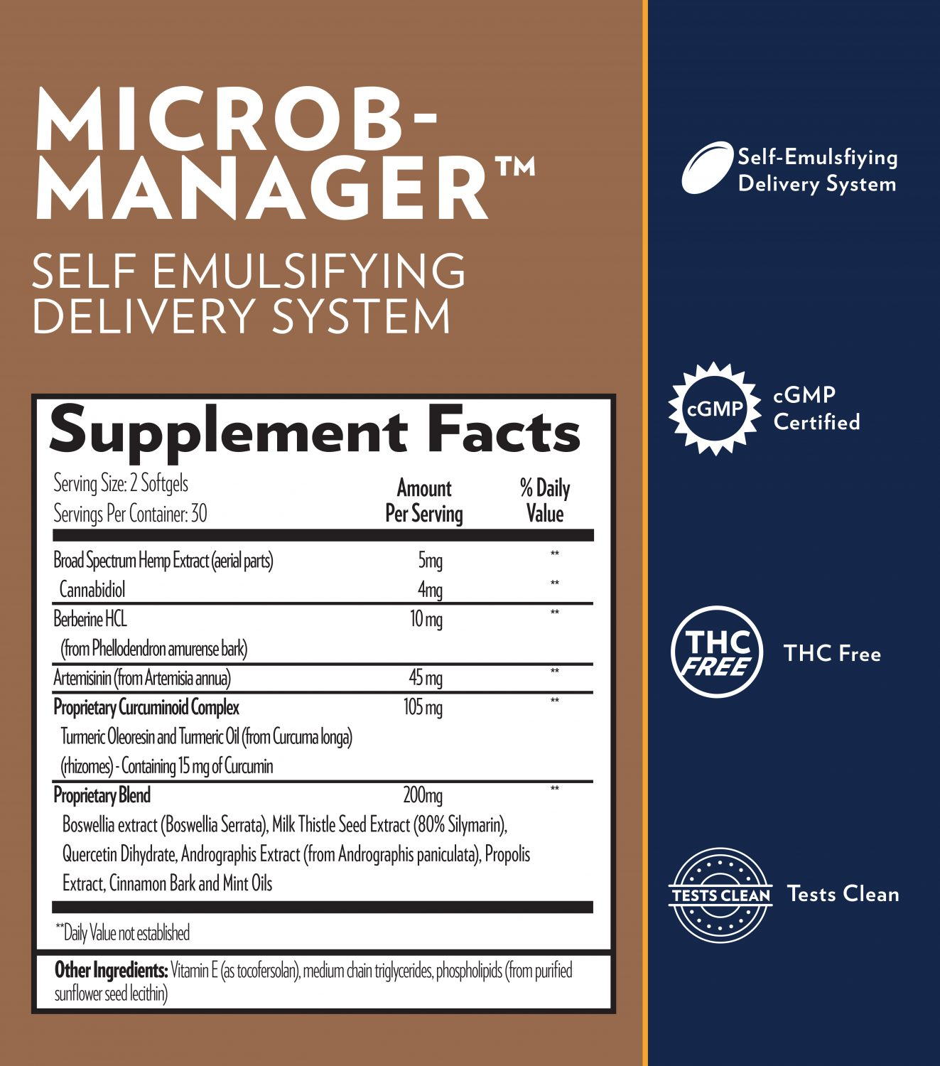 Microb-Manager Supplement Facts