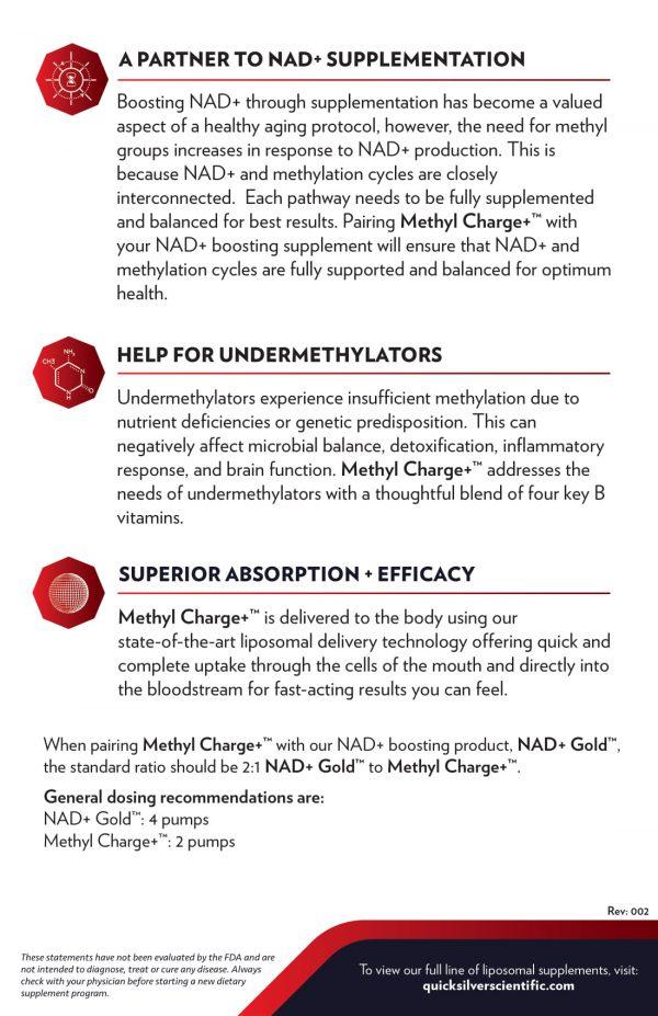 Methyl Charge+™ Benefits