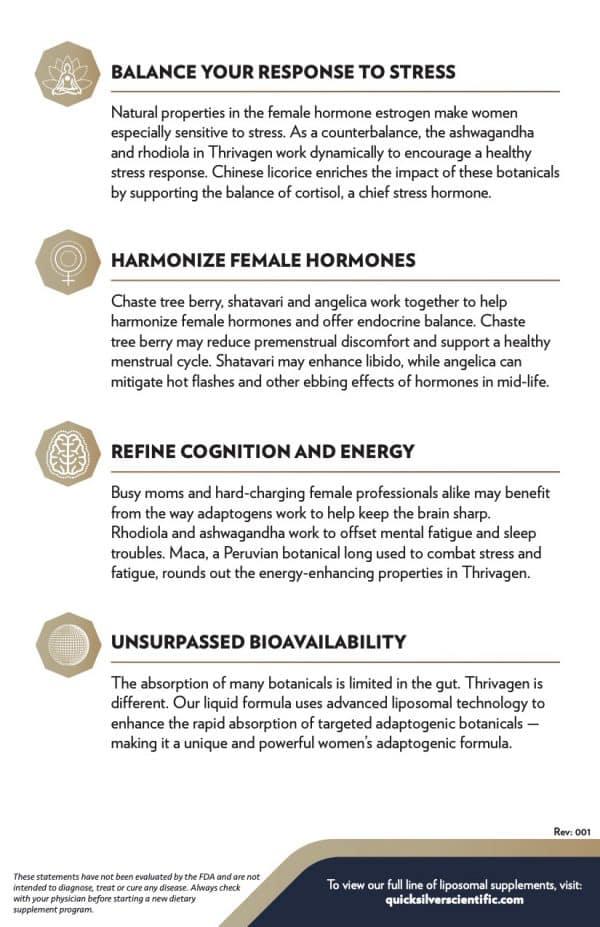 Thrivagen Benefits